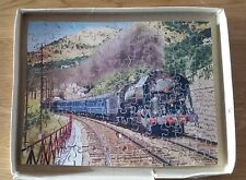 Complete Hayter Vintage Victory Wooden Jigsaw Puzzle French Blue Train 125 pcs