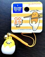 New SANRIO Gudetama Cute key chains holder with a tiny bell mascot strap