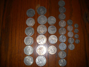 Pretty Lot of (34) Assorted Mexican Coins Dates Ranging From 1964 to 1981