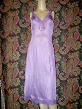 Vintage Gay-Lure Purple Nylon Tricot Lacy Princess Slip Lingerie 34