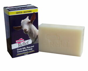 HOPE`S RELIEF GOATS MILK, SHEA AND COCOA BUTTER SOAP 125g-CLEANSES & MOISTURISES