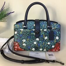 COACH *MERCER* MULTI FLORAL LEATHER SMALL SHOULDER CROSS BODY BAG *RRP $350*