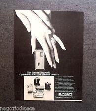 P336 - Advertising Pubblicità -1972- RONSON ELECTRONIC