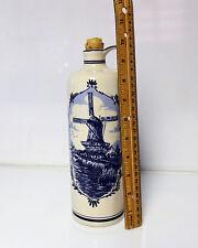 Blue Delft Decanter Holland Distilleries  (Empty)