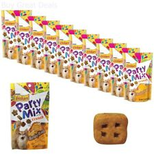 10 x Friskies Party Mix Cat Treats Morning Munch Crunch Egg Bacon Cheese Flavors