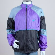 Vintage 80s 90s Nike Purple Black Shell Jacket Coat XL