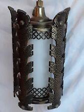 VTG Mid Century Gothic Spanish / Tudor Hanging Swag Light / Lamp Arts & Craft #1