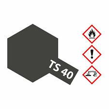 (8,23€/100ml) Tamiya TS-40 Metallic Schwarz glänzend 100ml Sprayfarbe Kunstharz