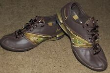 Womens Nike Shox Q'vida Dance Running Shoes Size 8 Brown Green Gold Leather
