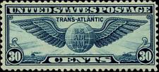 1939 30c Transatlantic Winged Globe, Dull Blue Scott C24 Mint F/VF LH