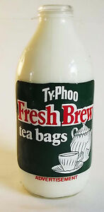 RETRO MILK BOTTLE UNIGATE 80s TYPHOO TEA - KITCHEN MEMORABILIA