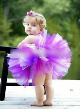 PURPLE TUTU SKIRT FOR BABY GIRL KIDS TODDLER - BIRTHDAY, PARTY 0-6 Yr