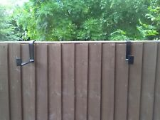 Window box brackets for hanging on fences