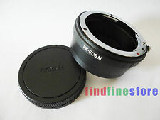 Pentax K PK Lens to Canon EOS M Mirrorless Camera adapter focus infinity + CAP