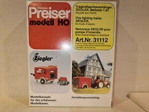 PREISER 31112, Tragkraftspritzen Anhänger, H0