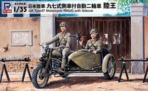 Pit-Road 1/35 Japanese Army G50 Type 97 Sidecar Mounted Motorcycle Rikuo Kit