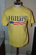 Hillary Clinton For President 2008 Men's Large T Shirt USA
