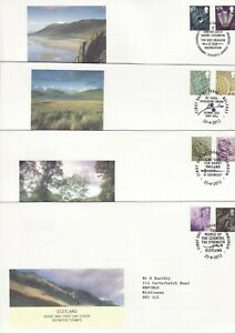 GB Stamps First Day Cover X 4 Regional Definitives W,S,NI,EN 87p and £1.28 2012
