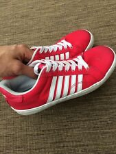 GIRLS K SWISS TRAINERS PINK LACE UP UK 5 SHOES BOOTS TEENS KIDS CASUAL