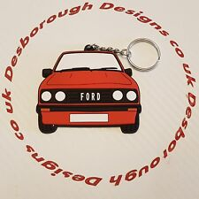 Ford MK2 Escort Rs 2000 Key Ring Venetian Red  Front