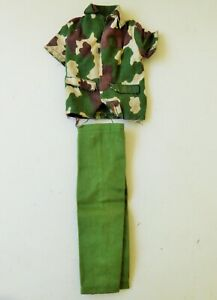 "HASBRO GI JOE ACTION SOLDIER CAMO SHIRT OUTFIT FOR 12"" ACTION SOLDIER"