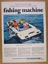 1969 Evinrude Sport Fisherman Boat color photo vintage print Ad