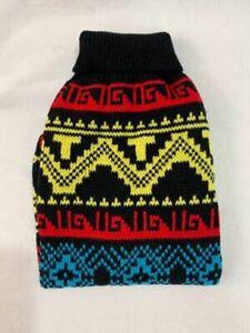 Proguard Pet Knit Dog Sweater Multi Color Jacquard size 18 New