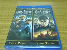 Harry Potter and the Deathly Hallows: Part 1 & 2 (2-Disc-Set Blu-ray) Rare & OOP