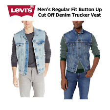 Levi's Para hombres Regular Fit Button hasta cortar Denim Camionero Chaleco