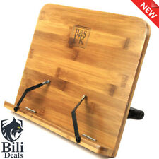 H&S® BamBoo Reading Rest Cookbook Cook Recipe Kitchen Book Holder Stand Bookrest