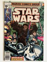 STAR WARS #3 1977 Marvel Comics 6.0 FN White Pages