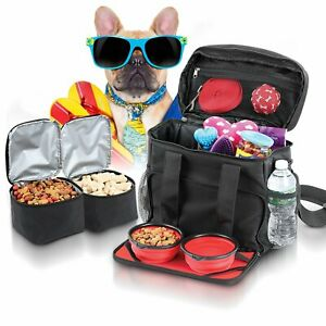 Dog Travel Bag Kit Airline Approved Accessories Tote Bag and Luggage Suitcase