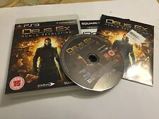 PS3 PLAYSTATION 3 GAME  DEUS EX HUMAN REVOLUTION +BOX & INSTRUCTION COMPLETE PAL