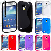 Housse Coque TPU Silicone GEL Soupe S Vague Samsung Galaxy S4 mini i9190 + Film