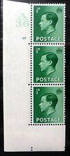 Gb 1936 Ed.Viii - ½d Cyl Strip of 3 U/M A36 No Dot Nr252