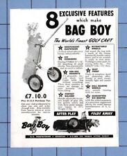 """El """"bag boy"""" Golf Carro Publicidad (1950)"""