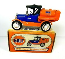 ERTL Gulf 1918 Ford Tanker Diecast Bank Gasoline Petroliana 1995