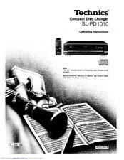 Technics SL-PD1010 CD Changer Owners Instruction Manual Reprint