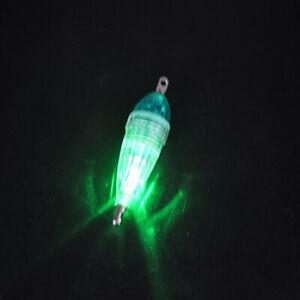2Pcs 6CM Underwater Glow Fish Attracting Lure Boat Fishing LED Lure Baits Lamp