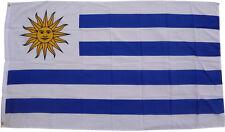 XXL Bandera URUGUAY 250 x 150cm con 3 Ojales De Metal para IZAR hissfahne