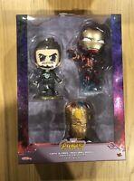 Hot Toys Cosbaby Avengers Infinity War Tony Stark Iron Man Mark L Gauntlet