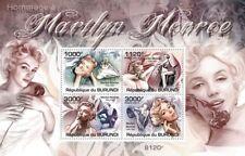 Marilyn Monroe/Neuf sans charnière 4-Value STAMP SHEET (2011 Burundi)