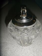 Vintage Heavy Crystal Table Top Lighter  from Japan