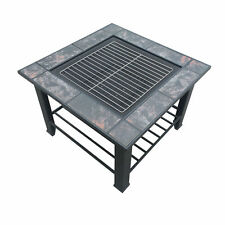 3 in 1 Multifuction Outdoor Fire Pit BBQ Table Grill Fireplace 94x71cm Ice Tray