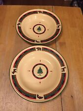 "2 Cannon Falls ""Lodge"" Enamelware soup/cereal bowls 9 1/2"""