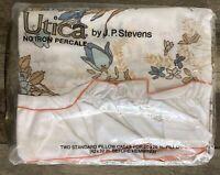 Utica J. P. Stevens No Iron Percale Standard Pillowcases Rapture Floral Vintage