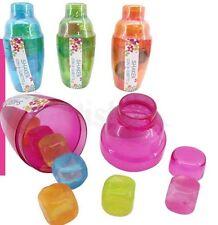 Shaker 220 Ml + 8 Cubetti In Plastica Riutilizzabili Filtro Cocktail Drink dfh