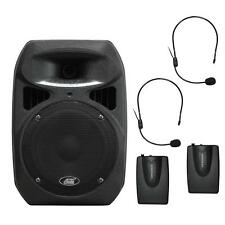Audio2000'S 6406H Dual Headset Channel Wireless Microphone Portable PA System-MR