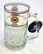 Welsh Dragon design GLASS  DRINKS TANKARD,  Cymru, Wales