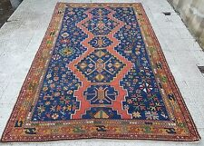 FANTASTIC AUTHENTIC OLD ANTIQUE CAUCASIAN KAZAK RUG COLLECTOR ITEM 6x10 ft